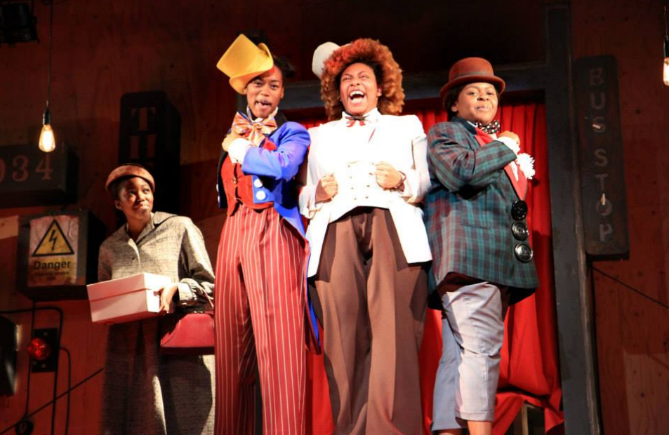 An image from a production of The Scottsboro Boys